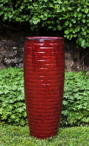 'Macintosh Red' Short Lunas Planter
