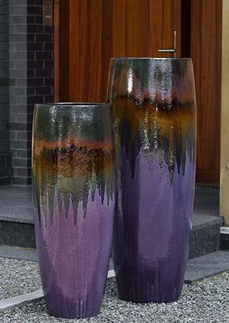 'Lava Purple' Short Sabine Planter