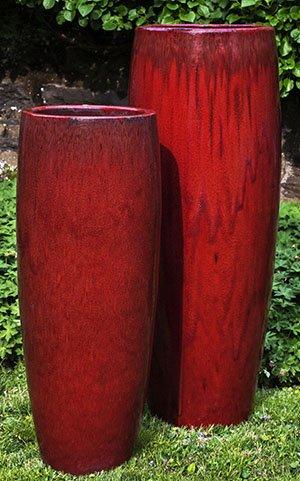 'Macintosh Red' Tall Sabine Planter