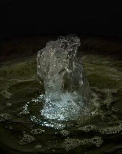 Leaf Motif Fountain - Night View